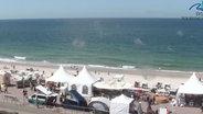 Screenshot einer Strand-Webcam auf Sylt. © insel-sylt.de
