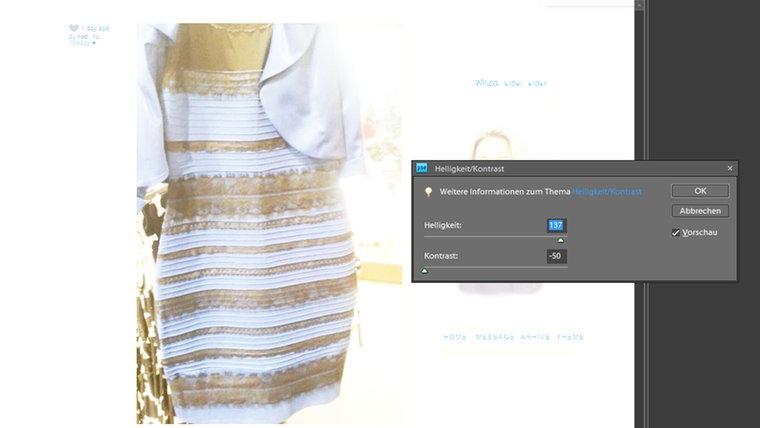Weißgold kleid  Dressgate: Ein Kleid spaltet die Welt | N-JOY - Digitales