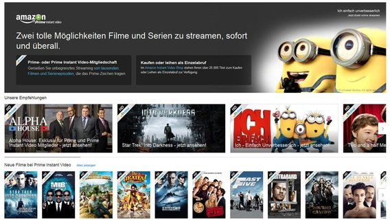 Screenshot von Amazon Prime Instant Video © Amazon