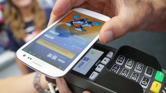Kontaktloses Bezahlen per NFC-Chip.