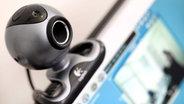 Bild einer Webcam auf einem Computerbildschirm © picture-alliance Fotograf: Martin Gerten
