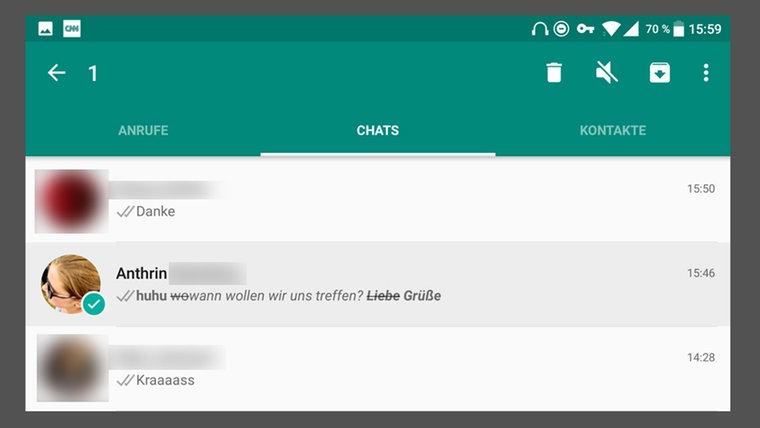 Chat-Datum und Treffen