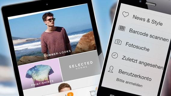 In der Zalando-App gibt es eine Funktion zur Fotosuche. © NDR Foto: NDR