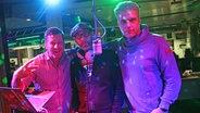 DJ Mad legt bei Kuhlage und Hardeland im N-JOY Studio auf. © Pascal Strehler/ N-JOY Fotograf: Pascal Strehler