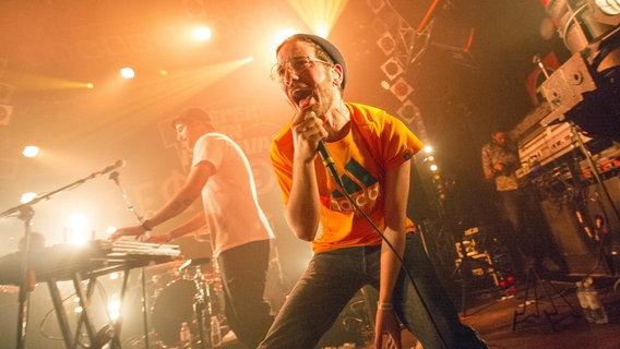 Die Leoniden auf der Bühne. © Jazzarchiv Hamburg Foto: Jazz Archiv/Michi Reimers