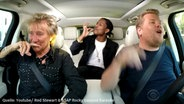 "Zu sehen ist ein Screenshot aus dem Youtube-Video ""Rod Stewart & A$AP Rocky Carpool Karaoke"". © Youtube / The Late Late Show with James Corden Fotograf: Screenshot: https://www.youtube.com/watch?v=5ndj6xn2P0c"