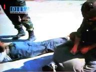 Fernsehbilder von Gräueltaten in Syrien  Foto: Al ArabiyaHandout