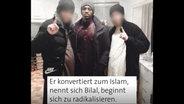 Screenshot aus einem Video: Bilal mit zwei Freunden. © NDR