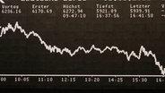 Aktienkurve an der Frankfurter Börse © dpa