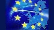 Bild vom EU-Flagge und den Mitgliedsländern