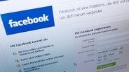 Webseite von Facebook auf einem Monitor © picture-alliance / dpa