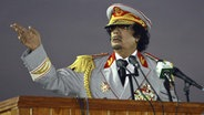 Gaddafi in Uniform © dpa
