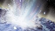 Komet Tempel 1 unter Beschuss.