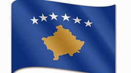 Die Flagge des Kosovo © picture alliance / J.W.Alker