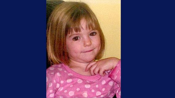 Das Foto zeigt die kleine Madeleine McCann, die vor sechs Jahren in Portugal spurlos verschwunden ist. © dpa - Bildfunk Foto: London Metropolitan Police Handout