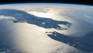 Ein Bild aus der Internationalen Raumstation (ISS) von Neuseeland. © Nasa Earth Observatory Fotograf: M. Justin Wilkinson
