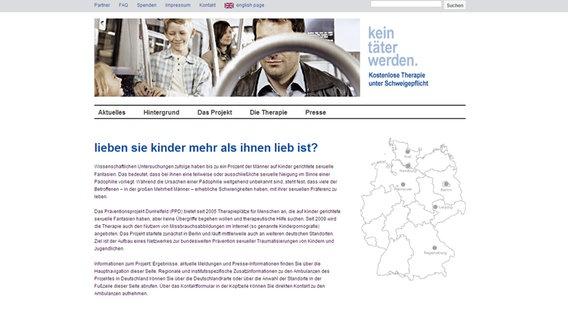 """Screenshot der Homepage der Kampagne """"Kein Täter werden"""". © Youtube Foto: Screenshot"""