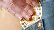 Verpackung einer Antibabypille © picture alliance/chromorange