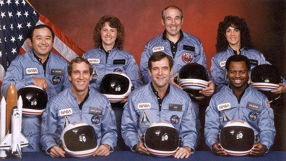"""Die Crew der Raumfähre """"Challenger"""" © picture-alliance / dpa"""
