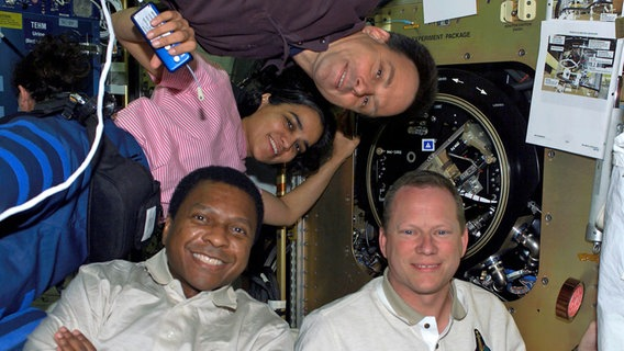 """Crew des Space Shuttles """"Columbia"""" © picture-alliance / dpa"""