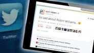 Twitter-Kommentar zum Tod von Robin Williams.