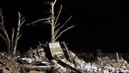 Verwüstungen, die der Tornado am 20. Mai 2013 in Oklahoma anrichtete. © dpa Foto: Sgt. Kendall James