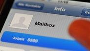 Mailbox-Symbol auf Smartphone © picture alliance