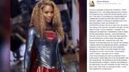 Zu sehen ist eein Facebook-Screenshot von US-Tennisstar Serena Williams in einem Superwoman-Kostüm. © facebook / Serena Williams Fotograf: Screenshot