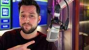 Moderator Marco Heilig im N-JOY Studio. © NDR Fotograf: NDR